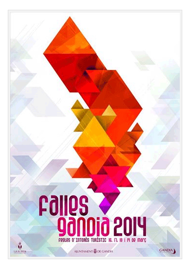 Cartel de las fallas de Gandia 2014